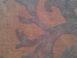 French Burlap- Gold and Umber